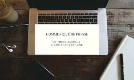 Communiqué de Presse / My Mooc rachète MOOC Francophone