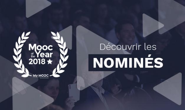 Qui sont les nominés de la 3ème édition des Mooc of the Year ?
