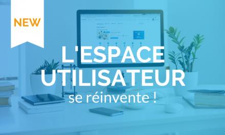 Votre espace utilisateur se réinvente !